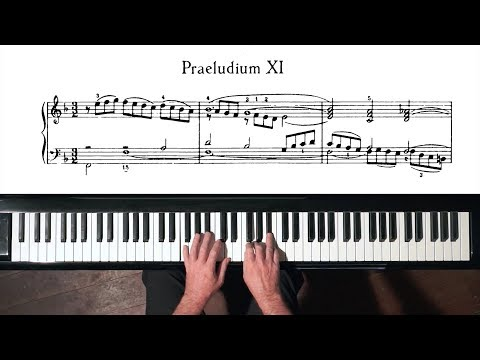 Bach Prelude And Fugue No.11 Well Tempered Clavier, Book 2 With Harmonic Pedal