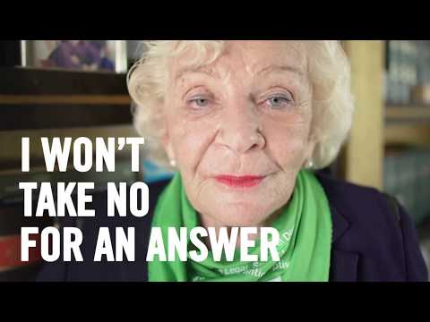 Nearly ninety and won-t stop fighting abortion laws.