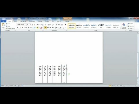 how to create tear off tabs in word