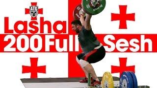 🇬🇪 Lasha Talakhadze 🇬🇪 200kg Snatches + 265kg Squats Full Session