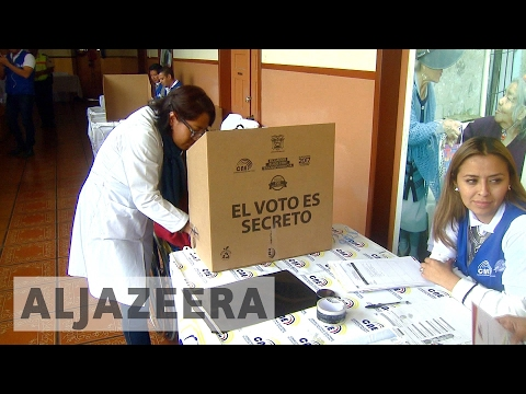 Ecuador elections: Voting under way for new president