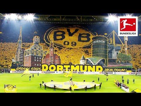 Borussia Dortmund Fans Show Spectacular Tifo On Yellow Wall