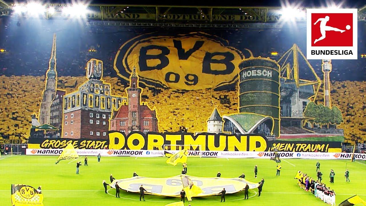 Borussia Dortmund Fans Show Spectacular Tifo On Yellow Wall Youtube