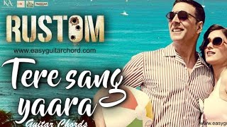 Tere sang yaara full karaoke with lyrics [RUSTOM MOVIE]