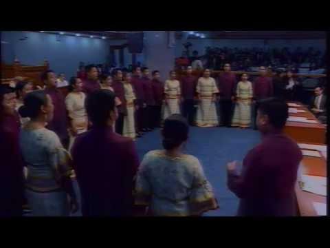 The Senate honors Senator Miriam Defensor Santiago, UP Madrigal Singers perform