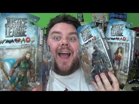Mattel Justice League Movie Batman, Aquaman, Wonder Woman & Superman DC Comics Action Figure Review