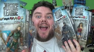 Justice League Movie Batman, Aquaman, Wonder Woman & Superman DC Comics Mattel Basic Action Figures