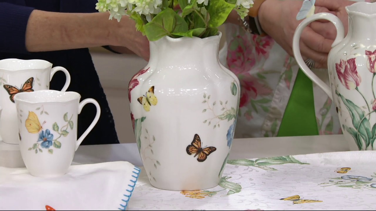 Lenox butterfly meadow limited edition porcelain pitcher on qvc lenox butterfly meadow limited edition porcelain pitcher on qvc reviewsmspy