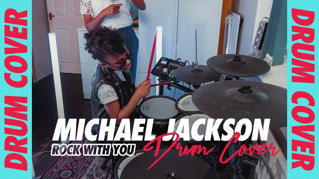 Download MICHAEL JACKSON - ROCK WITH YOU | Drum Cover | Geneva London (Age 8)