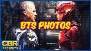 Flash Movie BTS Pics Reveal Keaton's Bruce Wayne, Supergirl and a 'Batmobile'