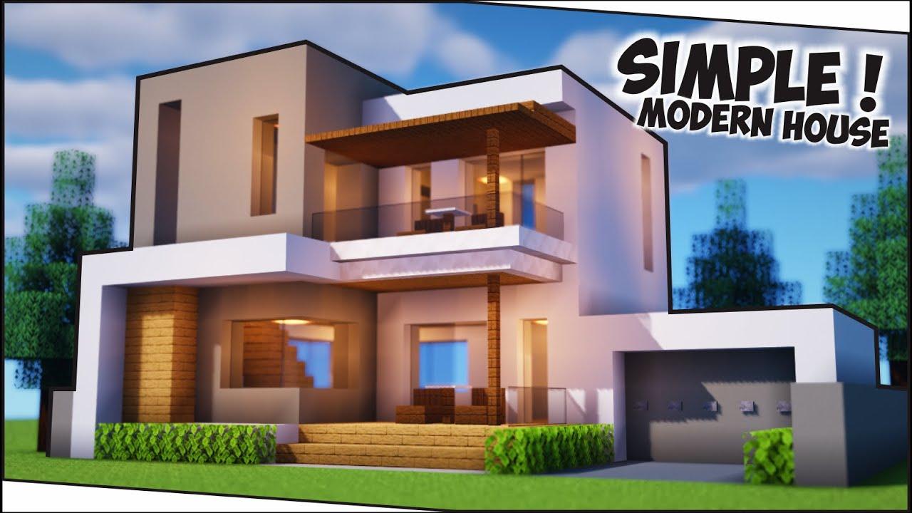 Cara Membuat Rumah Modern Perumahan Simple + Minimalis ! || Minecraft  Modern Pt.27 - YouTube