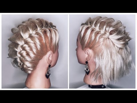 Плетение кос на короткие волосы видео уроки