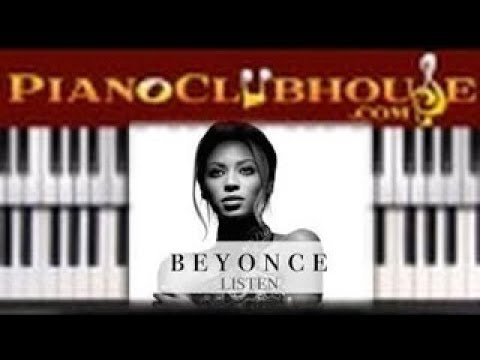 How To Play Listen By Beyonce Easy Piano Tutorial Lesson