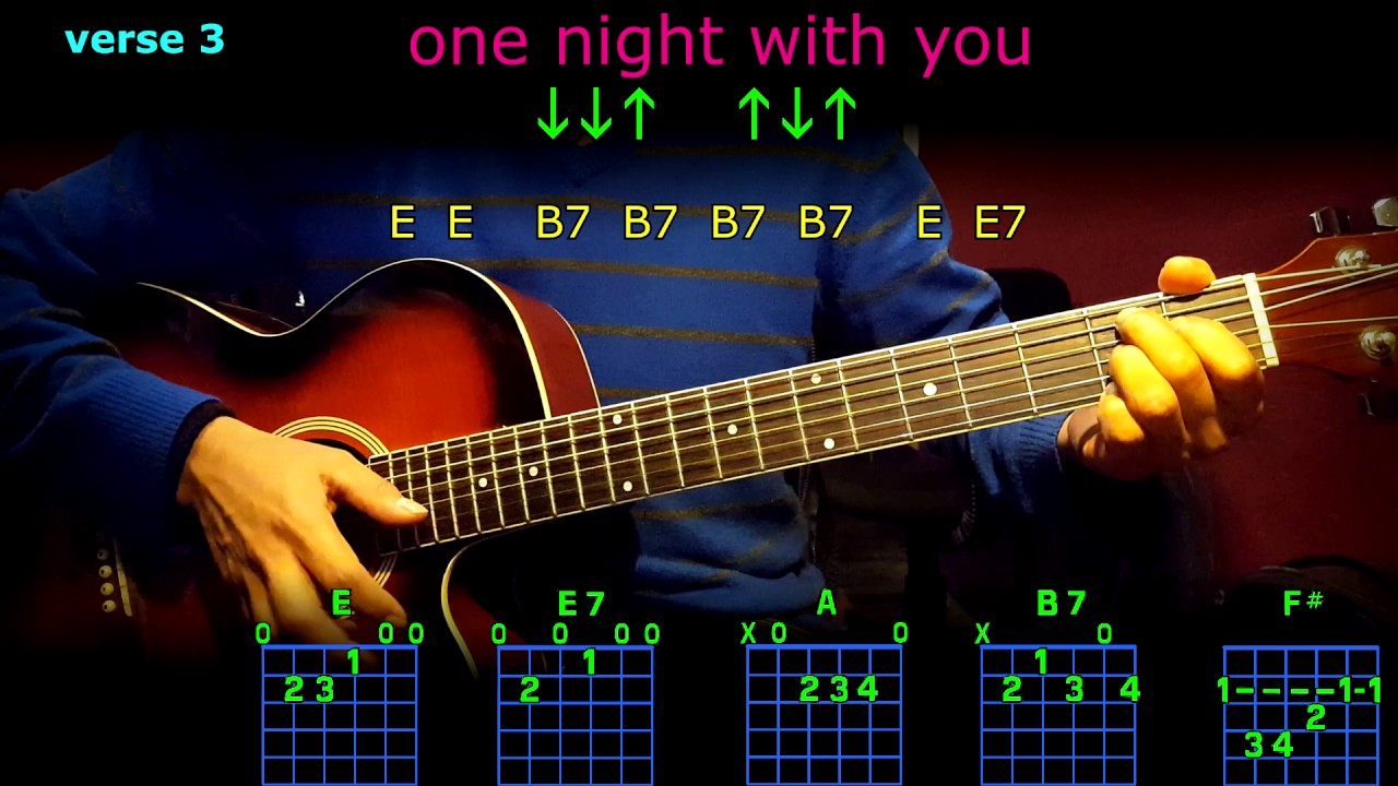 One Night With You Elvis Guitar Chords Youtube