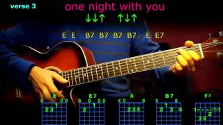 one night with you elvis guitar chords