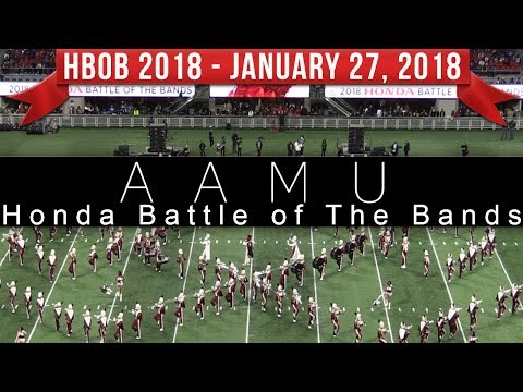 Alabama A&M Marching Band AAMU - 2018 Honda Battle of the Bands HBOB BOTB