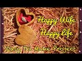 Happy wife happy life, wooden box as wedding gift or fifth anniversary idea/project band saw box