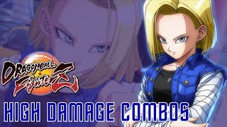 [DBFZ] Android 18 - High Damage Combos (Corner)