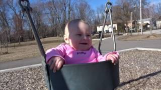 Libbi's First Time on a Swing