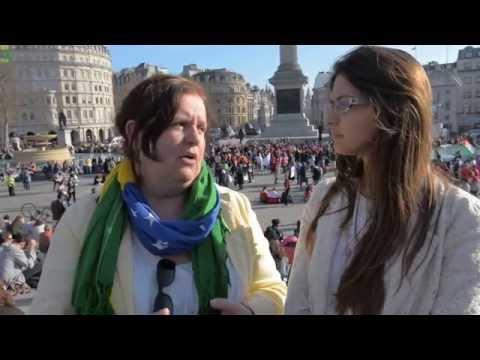 Interview: AMBE (Supporting Brazilian Women Abroad) at Million Women Rise, London, UK.