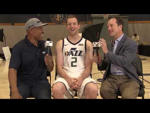 Joe Ingles interviewed at Utah's 2017 media day