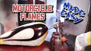 How To Paint Ghost Flames From Start To Finish-Custom Paint Tips-Part 1