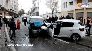 فيديو وفاة سائق سيارة تعليم في حادثة سير خطيرة بتطوان