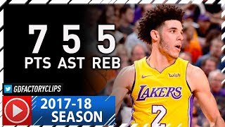 Lonzo Ball Full Highlights vs Suns (2017.11.13) - 7 Pts, 5 Reb, 5 Ast in 3 Qtrs