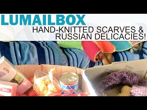 Lumailbox - Hand Knitted Scarves & Russian Delicacies! (From Taia and Ivan)