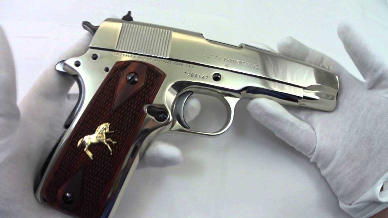 Colt 1911 in Blue and Nickel