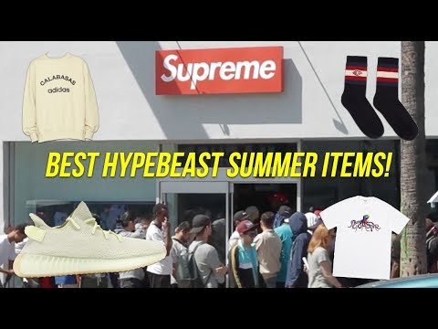 BEST HYPEBEAST ITEMS FOR SUMMER RIGHT NOW! (Supreme, Off White, Etc.)