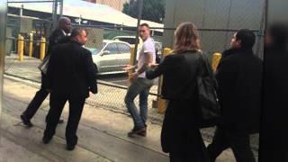 Adam Levine Gets Powder Bombed Outside Jimmy Kimmel Live! | Splash News TV | Splash News TV