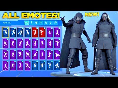*NEW* KYLO REN SKIN Showcase With All Fortnite Dances & Emotes! (Fortnite Star Wars Skin)
