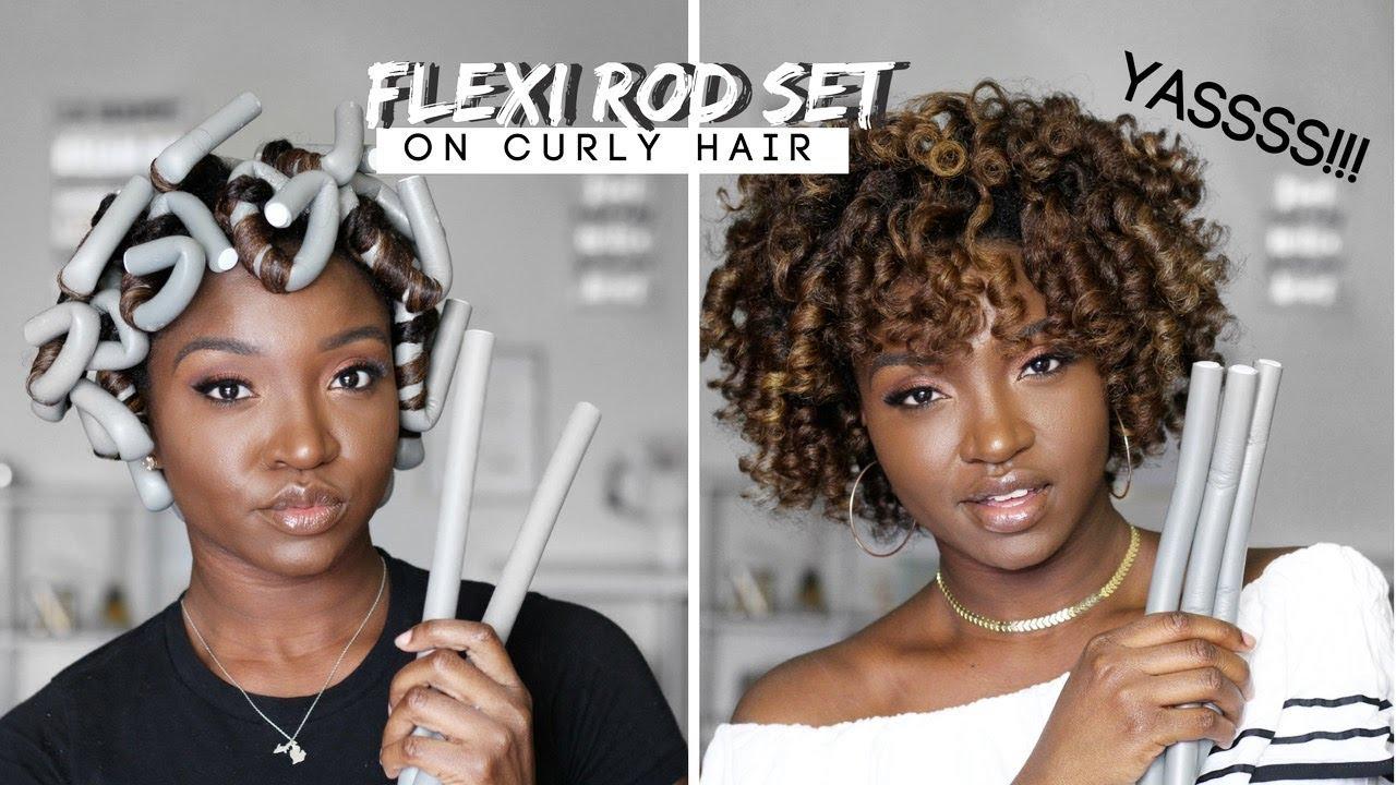 flexi rod set wet natural hair