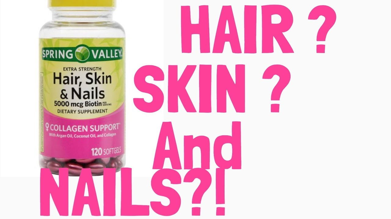 SPRING VALLEY HAIR , SKIN & NAILS !! INITIAL REVIEW - YouTube