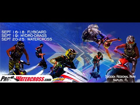 RECORDED Live Sat Sept 17 afternoon FLYBOARD World Cup Championship Brought by Pro Watercross