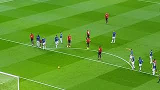 Paul Pogba penalty vs Everton 28.10.2018 LONG RUN UP