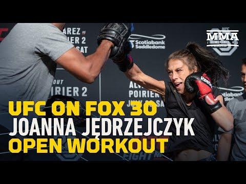 Joanna Jedrzejczyk UFC on FOX 30 Open Workout Highlights - MMA Fighting