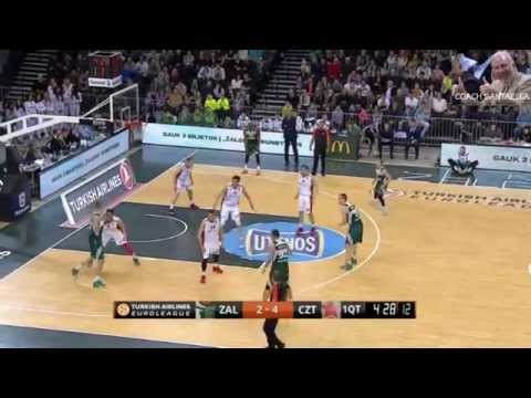 Paulius Jankunas 19 points vs Estrella Roja EUROLEAGUE 3 4 15