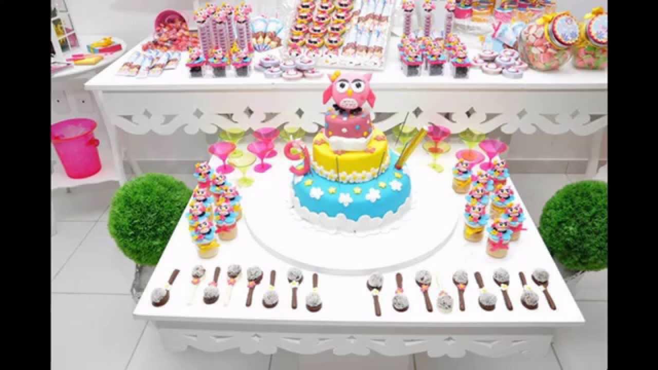 Creative Owl Birthday Party Decoration Youtube