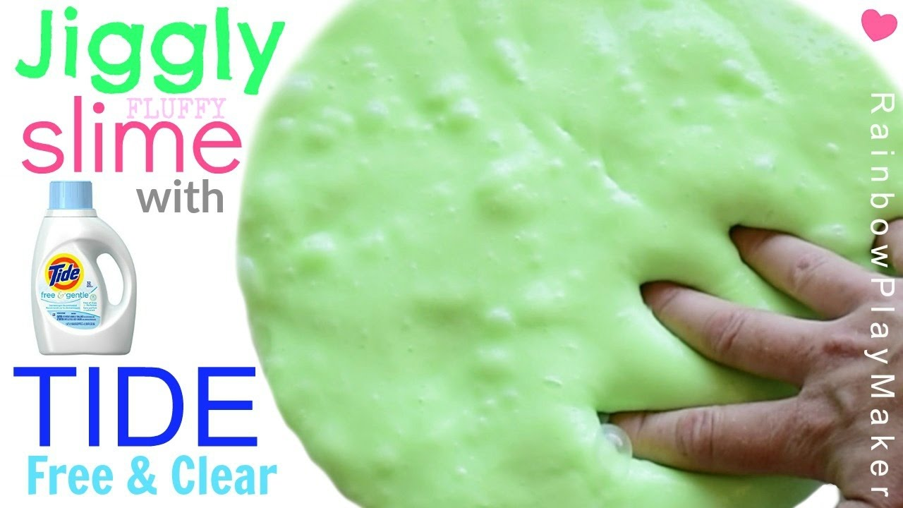 Diy fluffy jiggly slime with tide free clear without borax diy fluffy jiggly slime with tide free clear without borax ccuart Images
