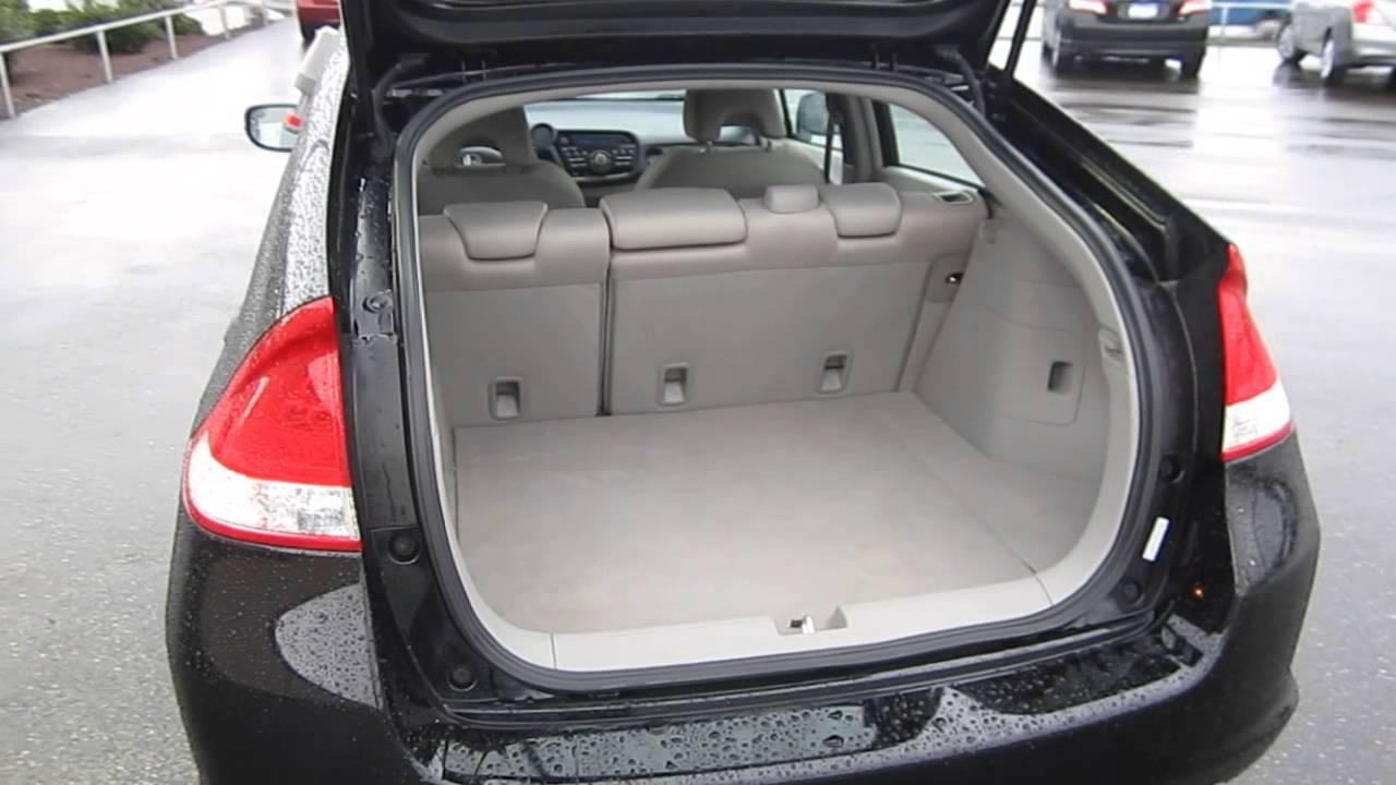 2010 Honda Insight Crystal Black Pearl Stock 12922p Trunk