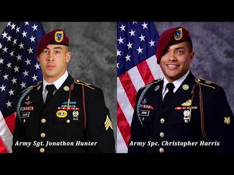 Army Sgt. Jonathon Hunter and Army Spc. Christopher Harris - Dignified Transfer