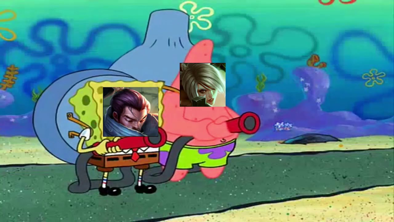 League of legends in a nutshell portrayed by spongebob