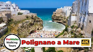 Polignano a Mare, Italy Walking Tour (4K/60fps)