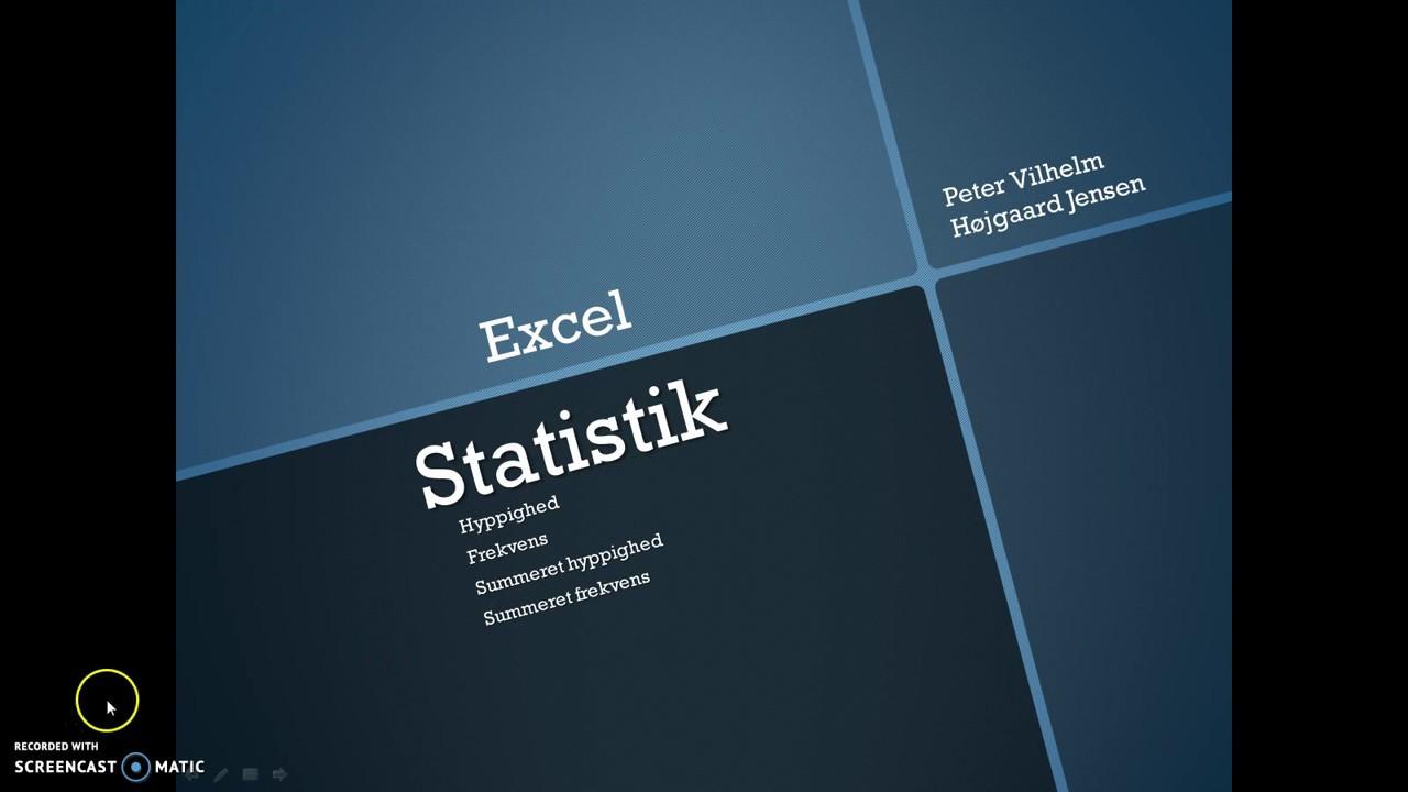 Excel: Beregn frekvens, summeret hyppighed og summeret frekvens