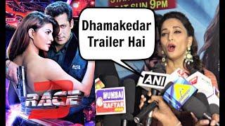 Madhuri Dixit Reaction On Race 3 Trailer