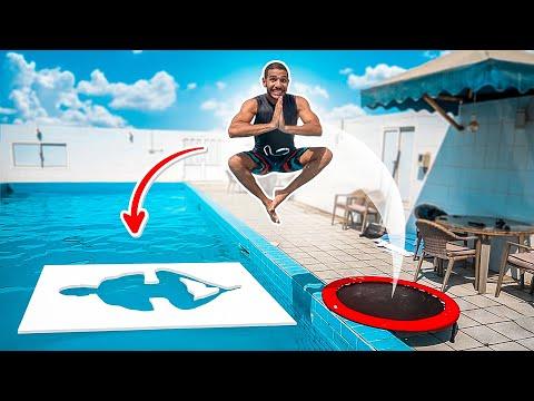 تحدي القفز على الأشكال الصعبه !! 🤯🤸🏽♂️   IMPOSSIBLE SHAPES CHALLENGE