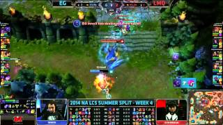 EG (Helios Lee Sin) VS LMQ (Noname Elise) Highlights {Epic} - 2014 NA LCS Summer W4D1