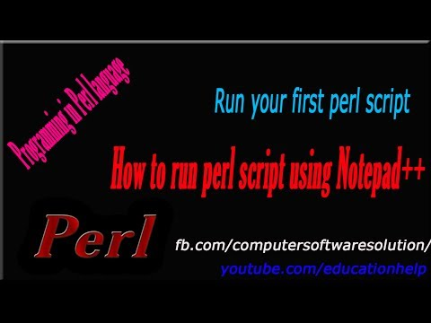 How to run perl script from notepad++